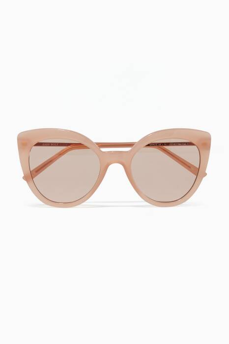 Beige Grace Square-Frame Sunglasses