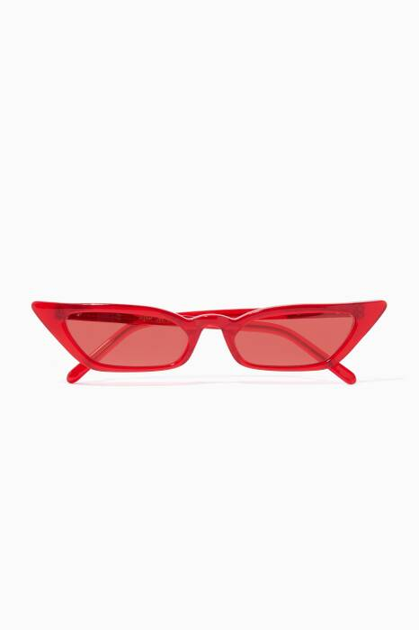 Red Le Skinny Sunglasses