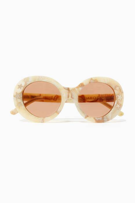 Cream Marble Dakota Sunglasses