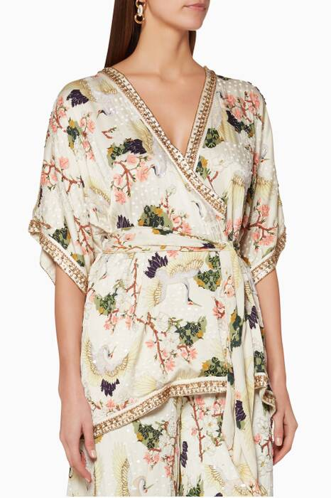 Multi-Coloured Floral-Print Pandora Robe