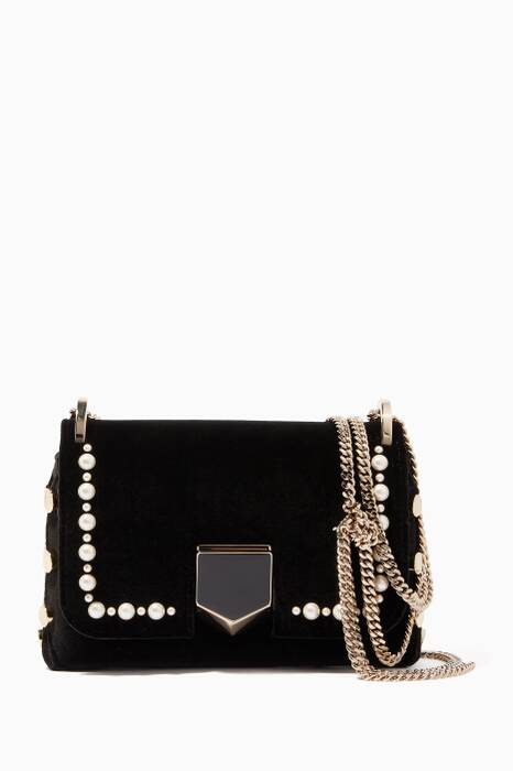 Black Mini Lockett Velvet Cross-Body Bag