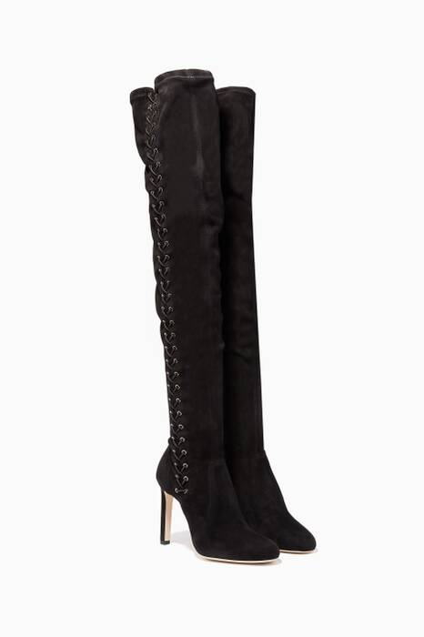 Black Marie Suede Over The Knee Boots