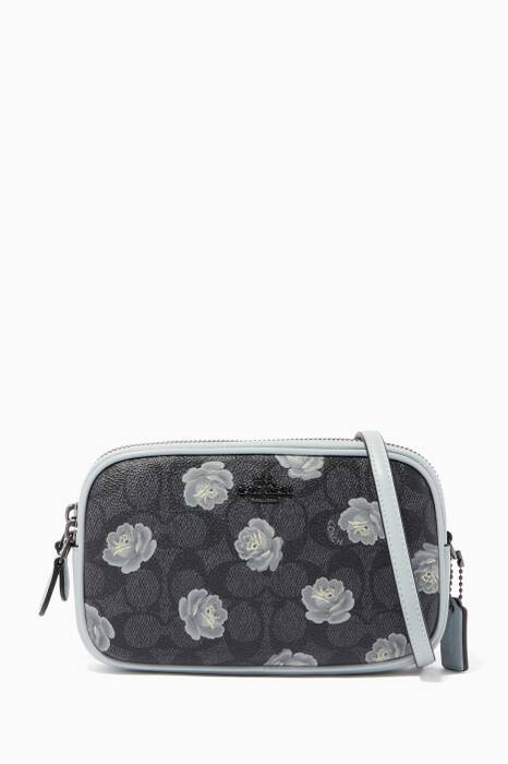 Charcoal Sky Print Cross-Body Clutch