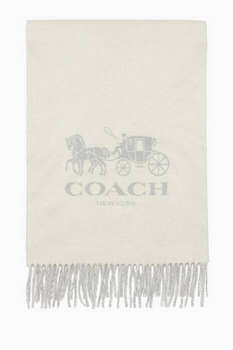 Chalk & Grey Horse & Carriage Cashmere Muffler