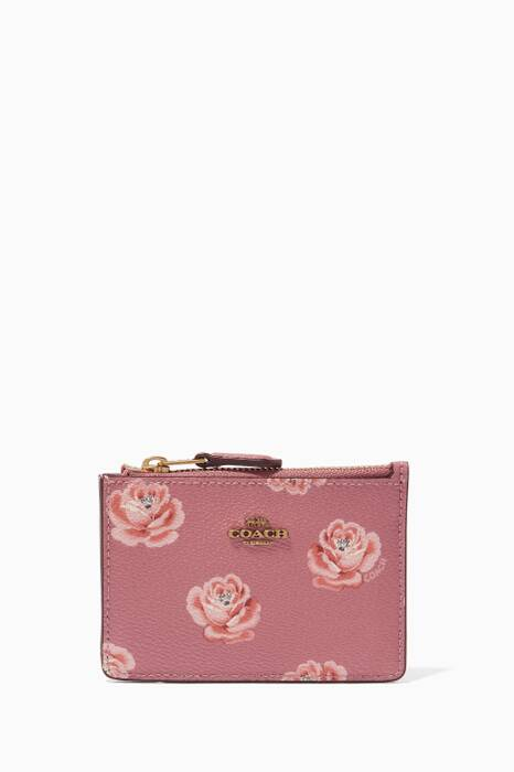 Rose Print Mini Skinny ID Case