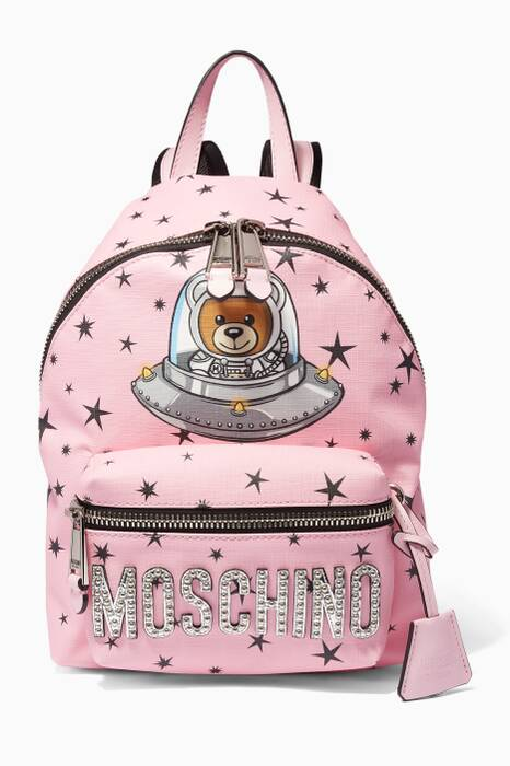 Confetti-Pink Teddy UFO Backpack