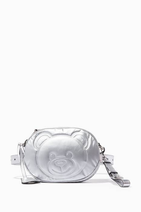 Silver Teddy Belt Bag