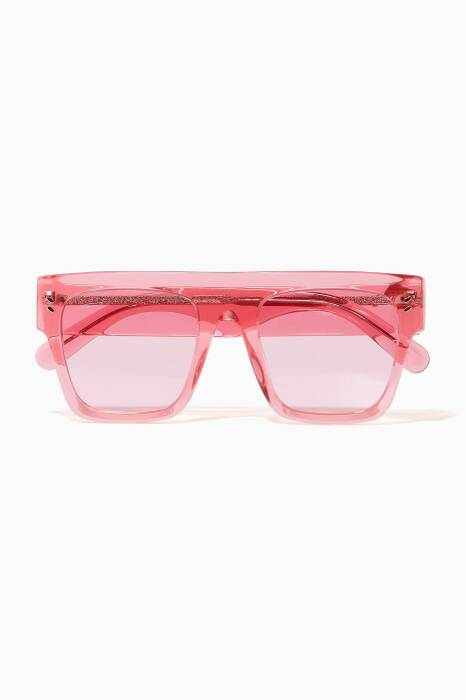Blush D-Frame Icy Ice Sunglasses