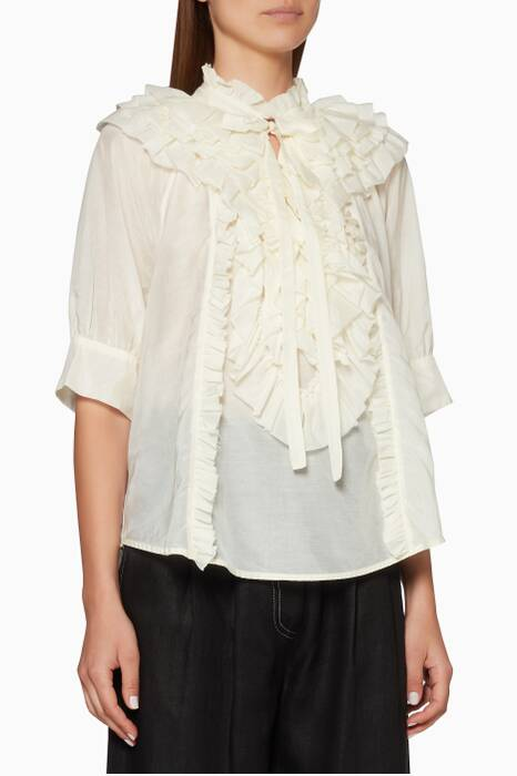 Off-White Ruffled Eva Top
