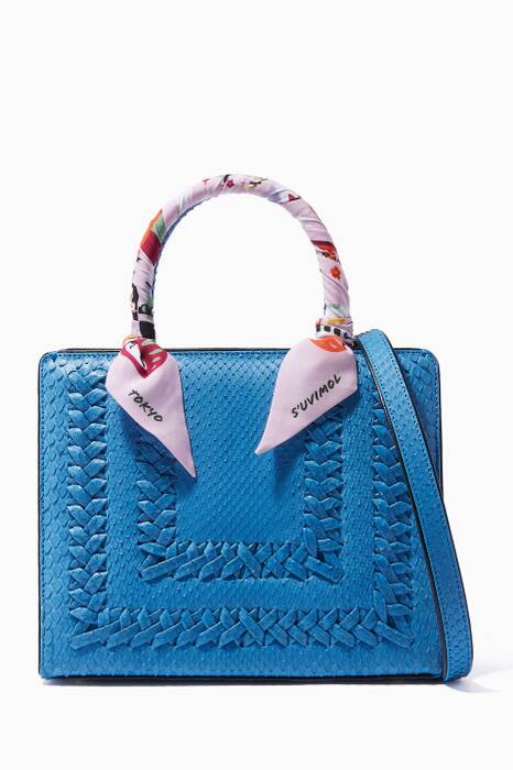 Blue Python My Sweet Box Small Tote Bag