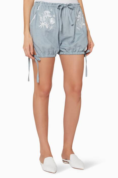 Grey Daisy Wilma Bloomer Shorts