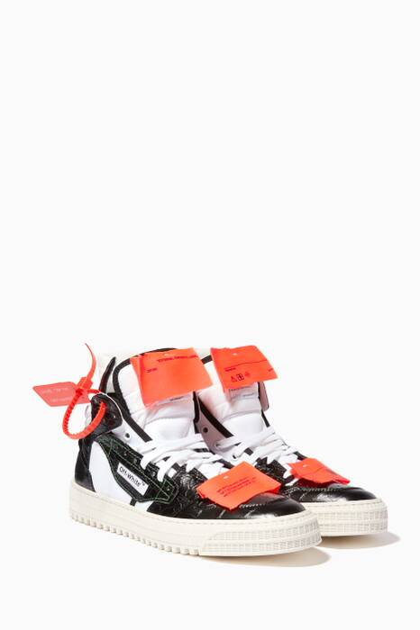 Black & Orange Off-Court 3.0 High-Top Sneakers
