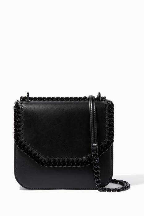 Black Medium Falabella Box Shoulder Bag