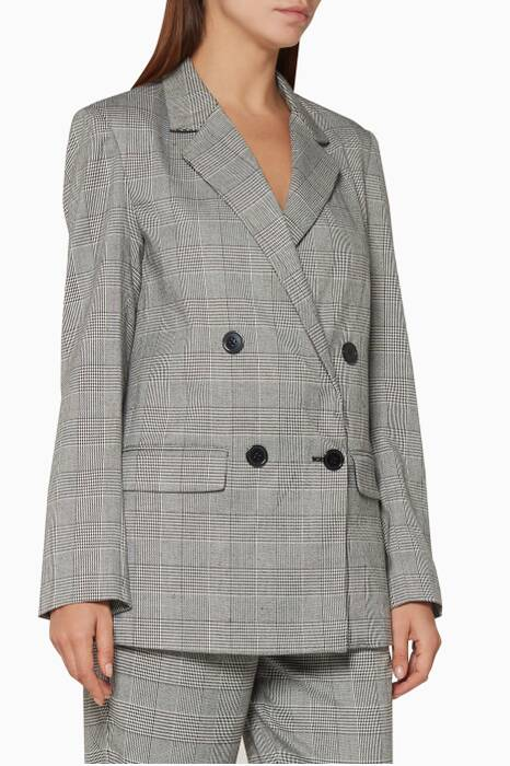 Pastel-Grey Check Suiting Blazer