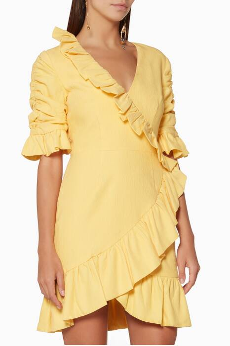 Yellow Miss Me Mini Dress