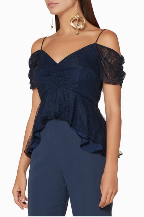 Navy Lace Get Free Top