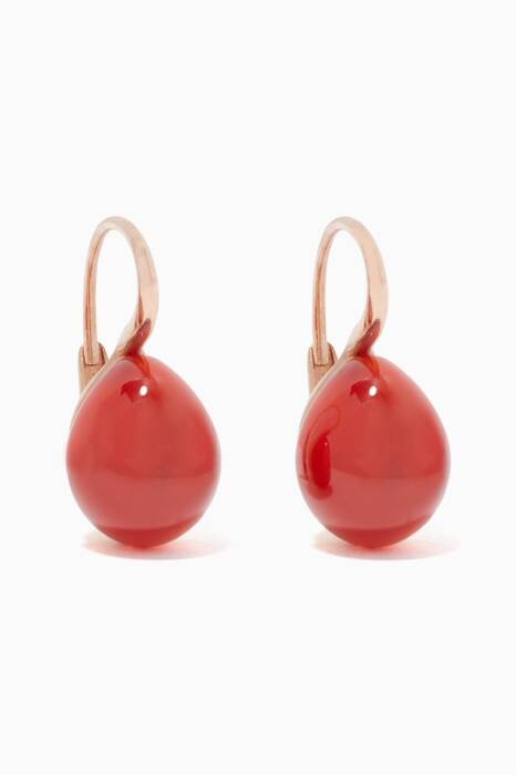 Rose-Gold Rouge Passion Earrings