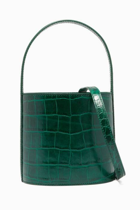 Green Crocodile-Embossed Bissett Bag
