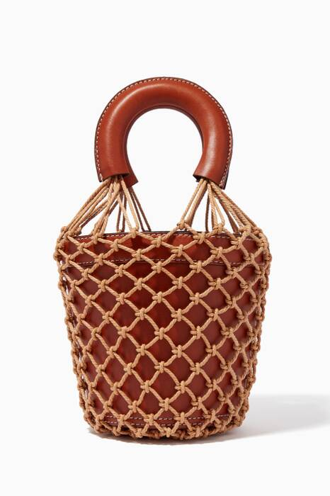 Brown Macramé Moreau Bucket Bag