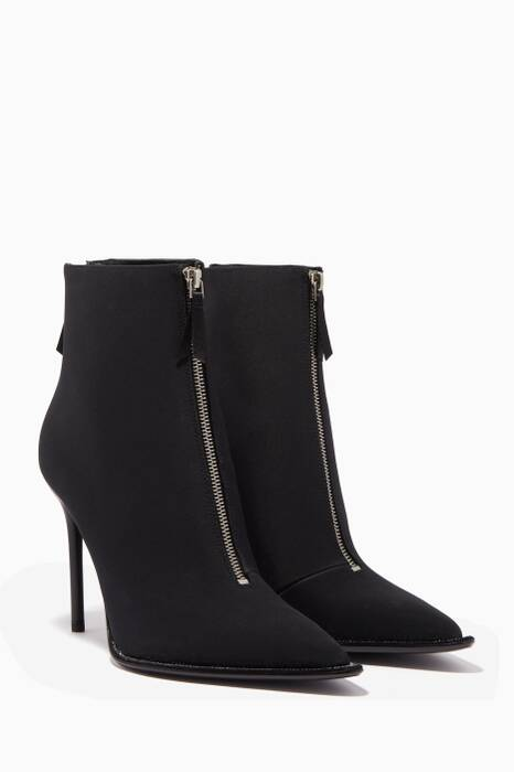 Black Eri Nylon & Diamonte Boots