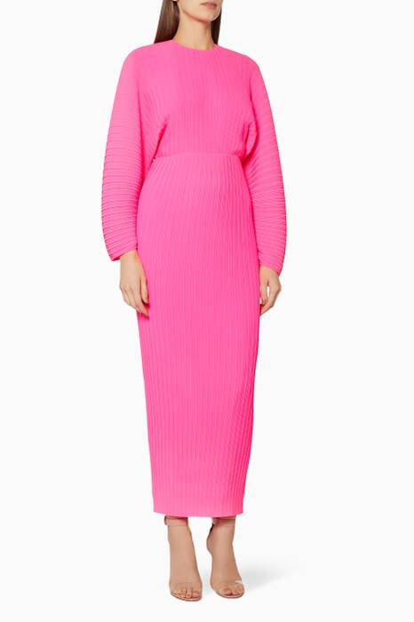 Pink Pleated Mirabelle Dress