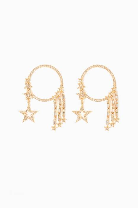 Gold Moon & Star Hoop Earrings