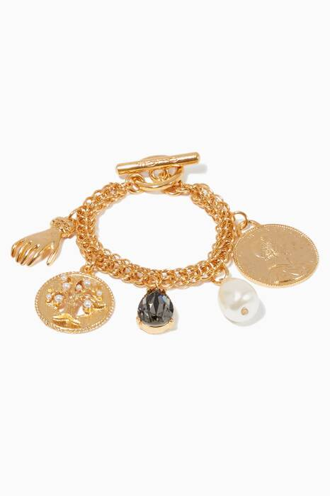 Gold Charms Chain Bracelet