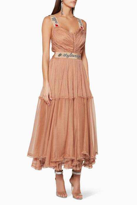 Caramel Lizeth Midi Dress