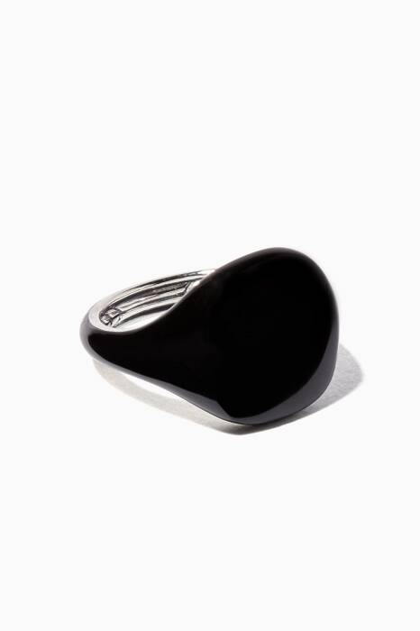 Black Ceramic Coated Pinky Ring