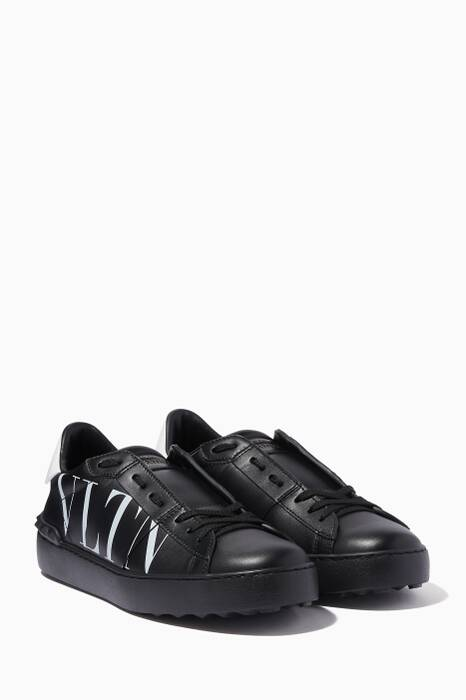 Black VLTN Rockstud Low-Top Sneakers