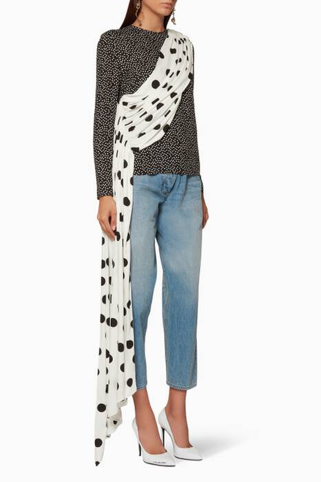 Black & White Nisa Polka Dot Top