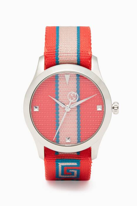 Red & Blue Striped G-Timeless Watch