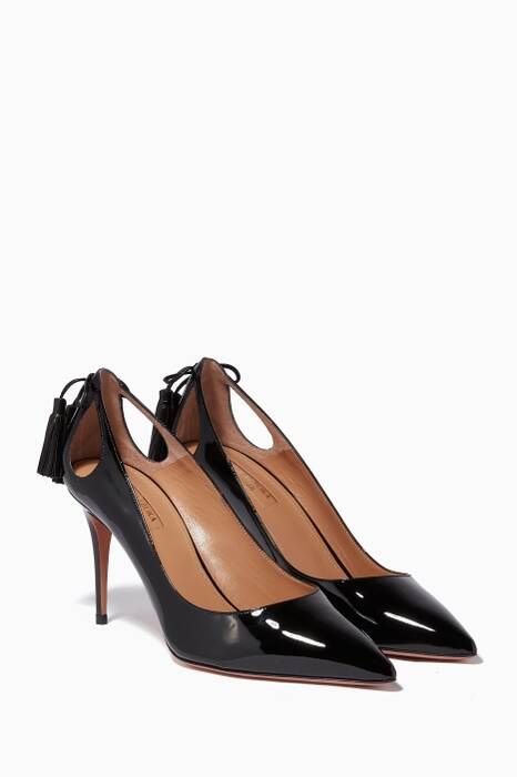 Black Patent Leather Forever Marilyn Pumps