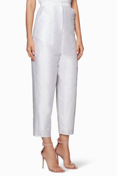White High-Waisted Jazmine Pants