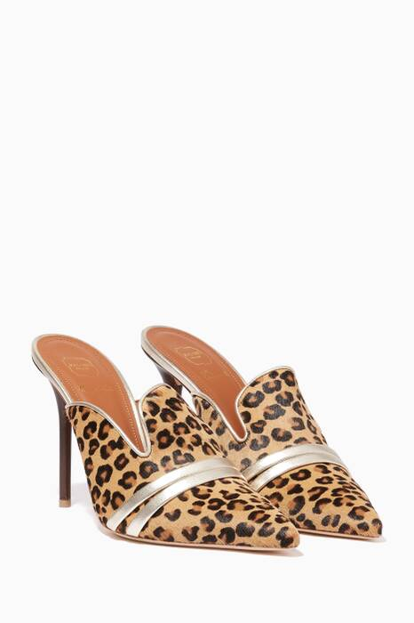 Tonal Brown Hayley Point Toe Mules