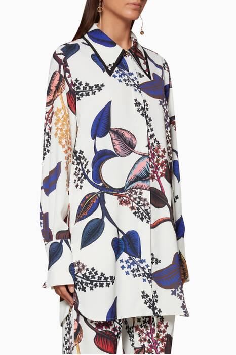 Multi-Coloured Floral-Print Clotilde Shirt