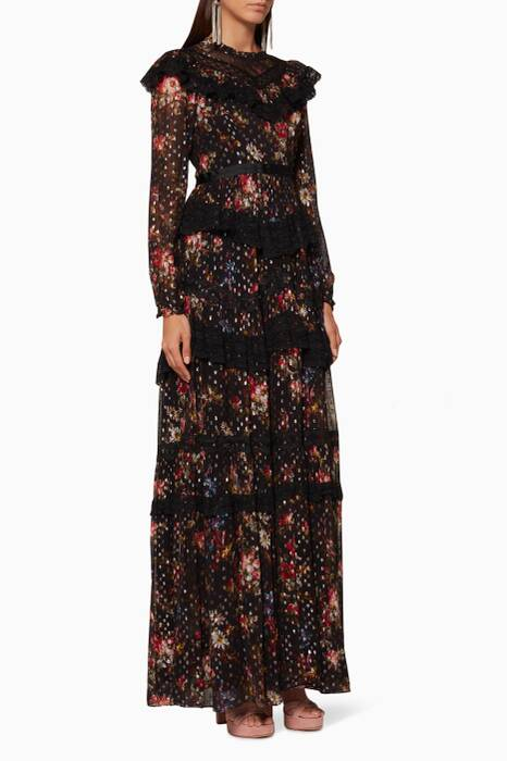 Black Cosmic Forest Gown