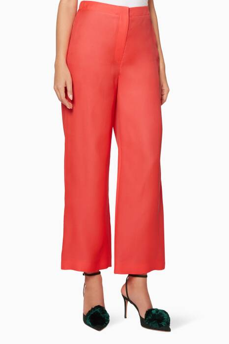 Fluro-Red Petra Pants