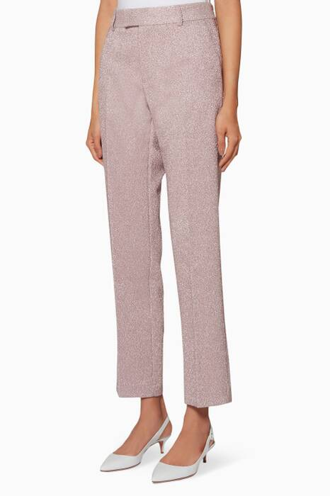 Light-Pink Lurex Pants