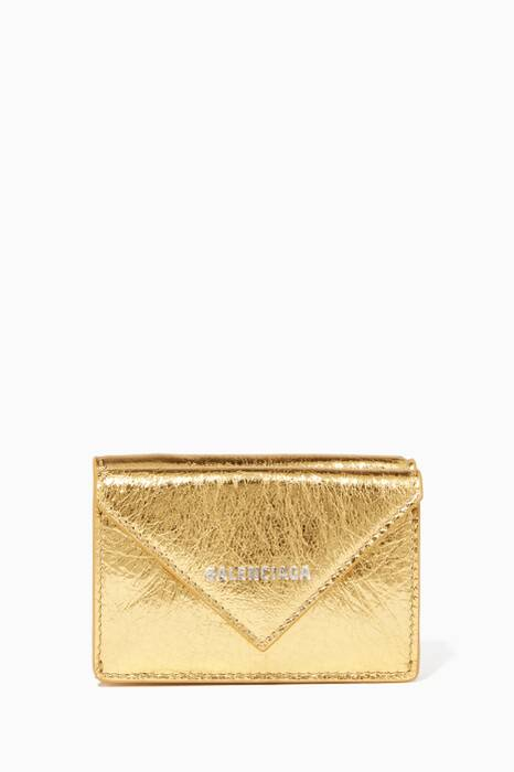 Gold Metallic Papier Mini Wallet