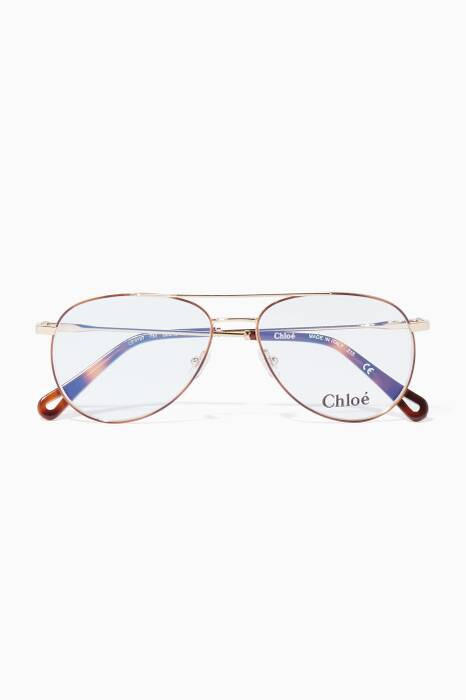 Gold Aviator Eyeglasses