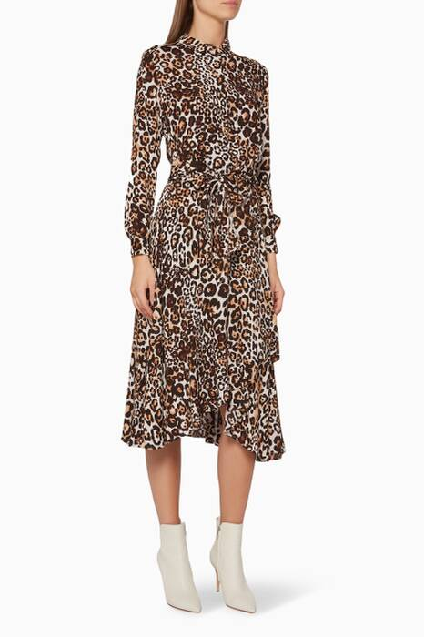 Brown Esme Leopard-Print Dress