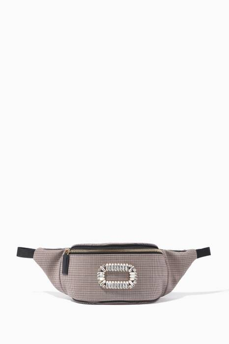 Grey Houndstooth Belty Viv Belt Bag
