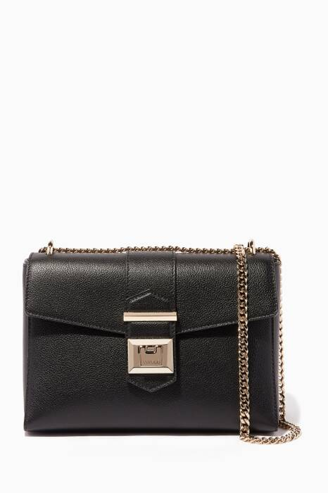 Black Marianne Leather Shoulder Bag