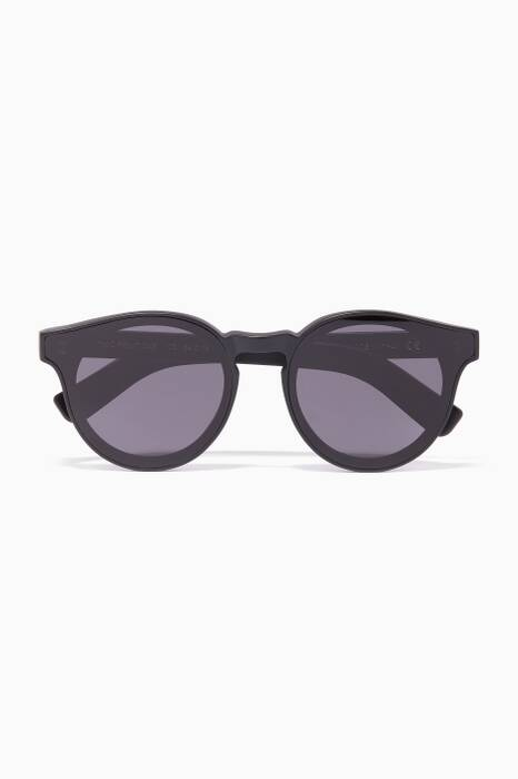 Black Two Point One Round-Frame Sunglasses