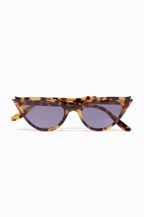Tortoiseshell Isabella Cat-Eye Sunglasses