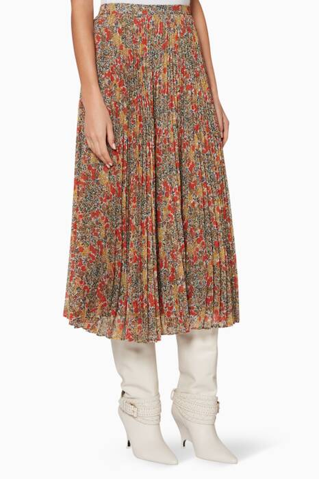 Multi-Coloured Foral Phylica Skirt