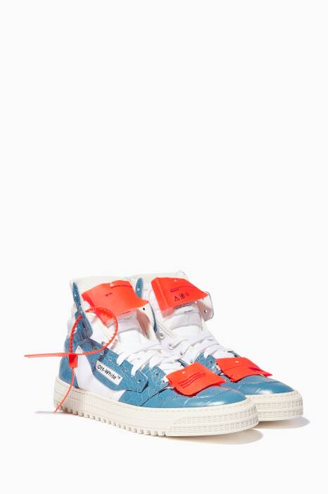 Blue & Orange Off-Court 3.0 High-Top Sneakers