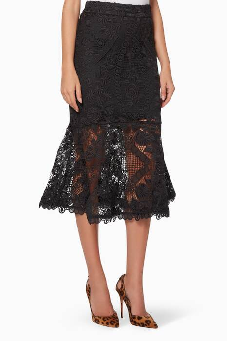 Black Lace Eternity Skirt