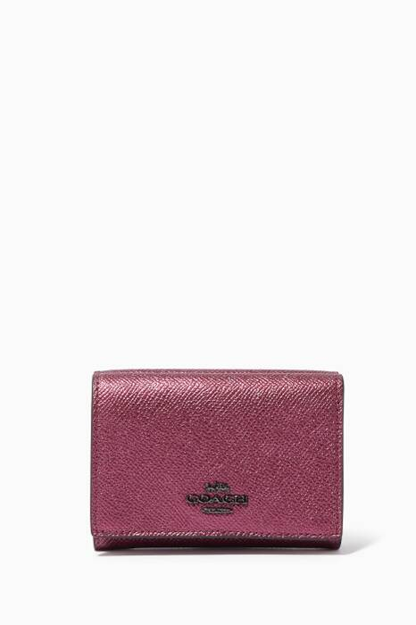 Metallic Berry Small Flap Wallet